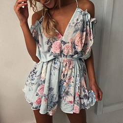 8jf1ni-l-610x610-jumpsuit-romper-floral-ruffle-dress-shoulder-outfit-summer-summer outfits-cute-pretty-girly-flowy-floral romper-v neck-print rompers-colorful-blue-pink-strappy-classic-trendy