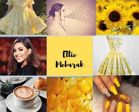 Blue Orange and Yellow Bright and Playful Fashion Moodboard Photo Collage (1)